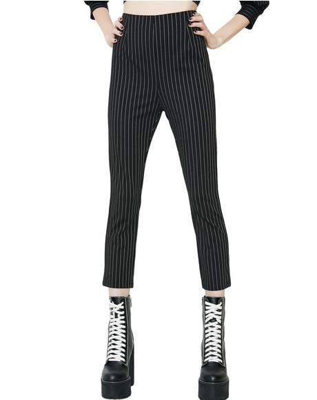 Darker Days Striped Pants
