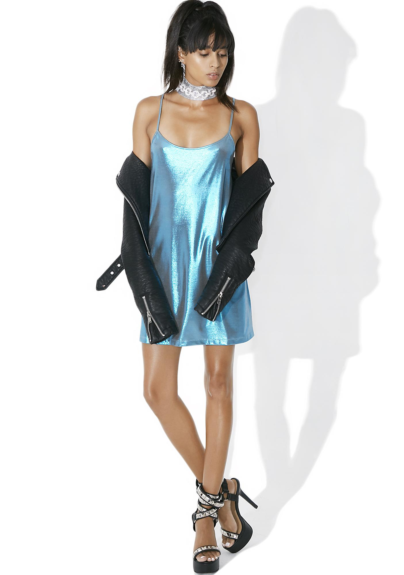Motel Frost Lustre Slip Dress