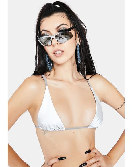 Glimmer Skimpy Triangle Bikini Top