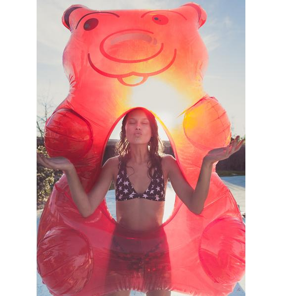 Red Gummy Bear Pool Float