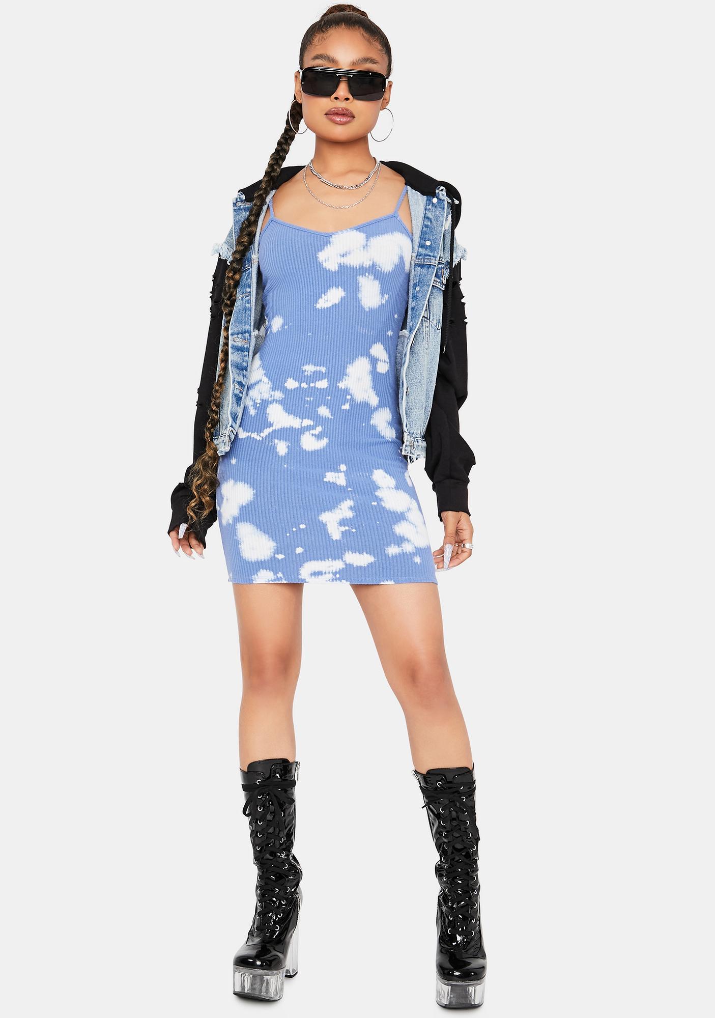 Ocean Trend Killa Tie Dye Mini Dress