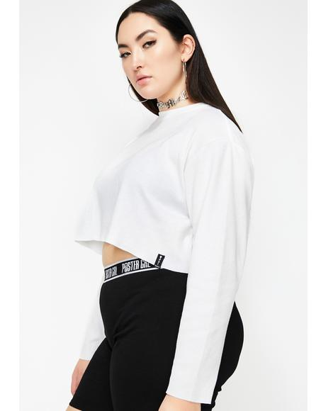 Icy You're A Hawt Mess Thermal Crop Top