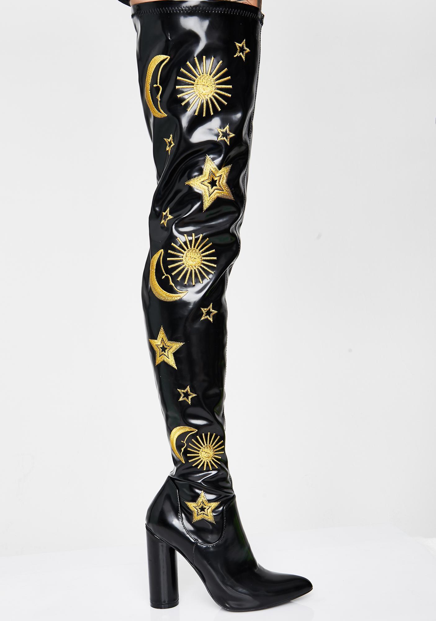 Koi Footwear Onyx Astrid Thigh High Boots