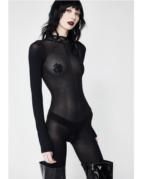 Takin' Over Sheer Bodystocking