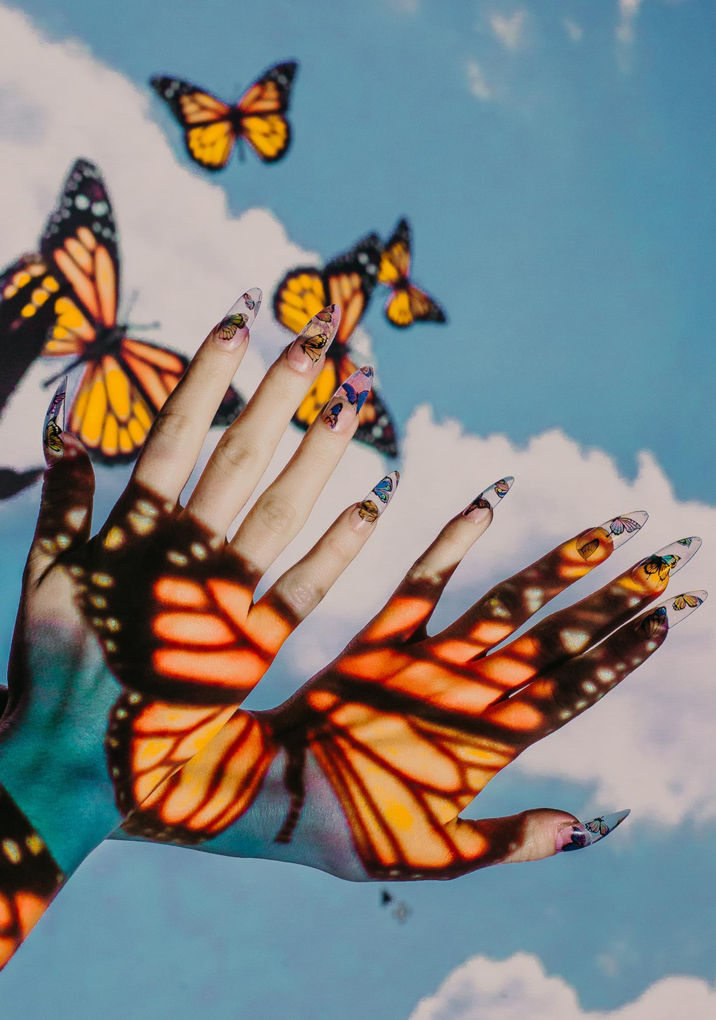 Rave Nailz Clear Butterfly Press On Nailz