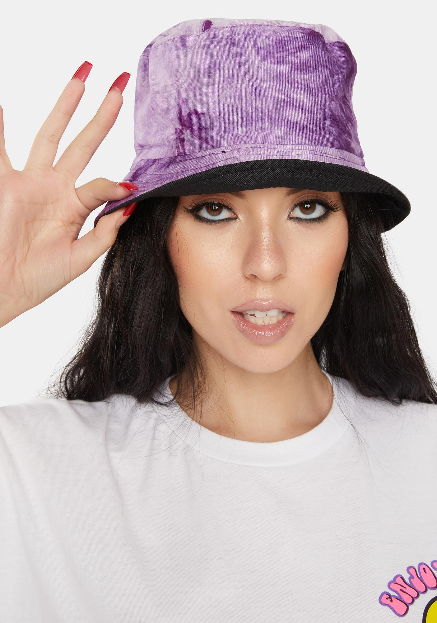 Lilac Come In Clutch Tie Dye Bucket Hat