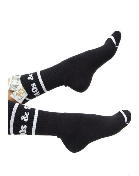 Text Logo Pocket Socks