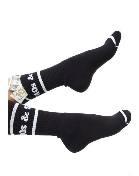 Text Logo Pocket Socks