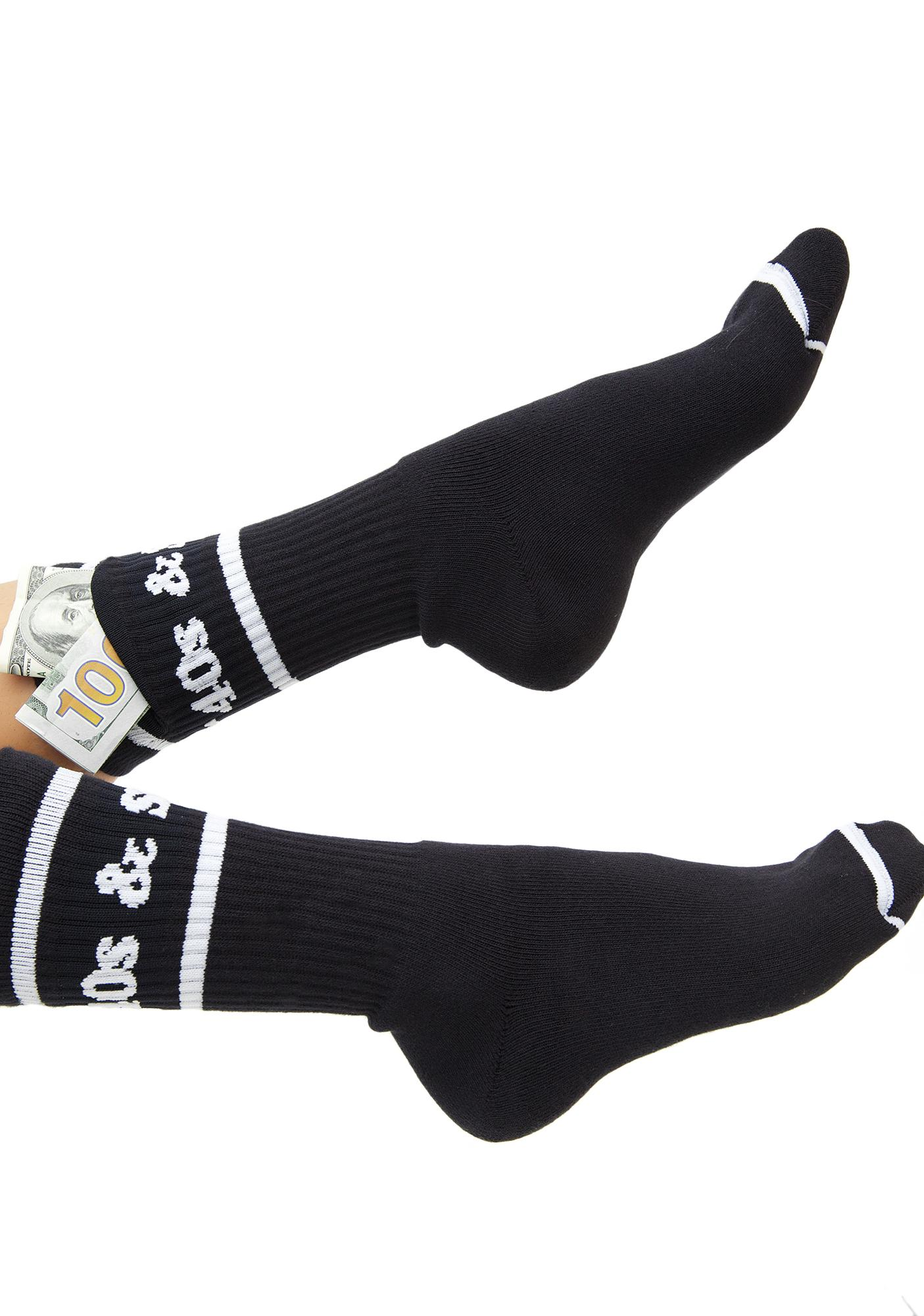 40s & Shorties Text Logo Pocket Socks