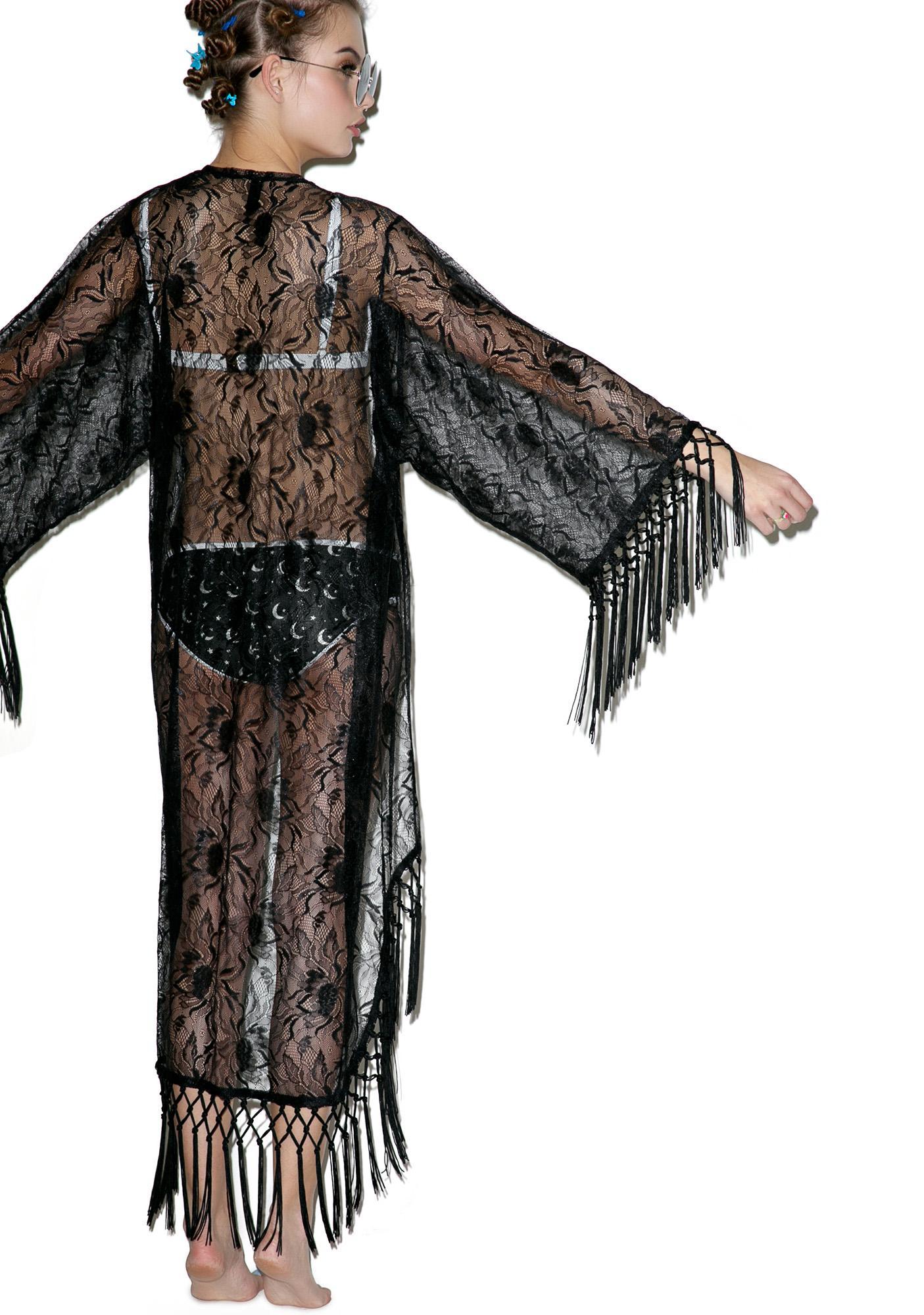 Disturbia Nightshade Kimono
