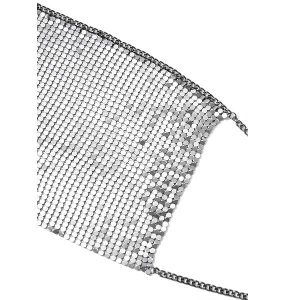 6 Shooter Chainmail Halter Bra