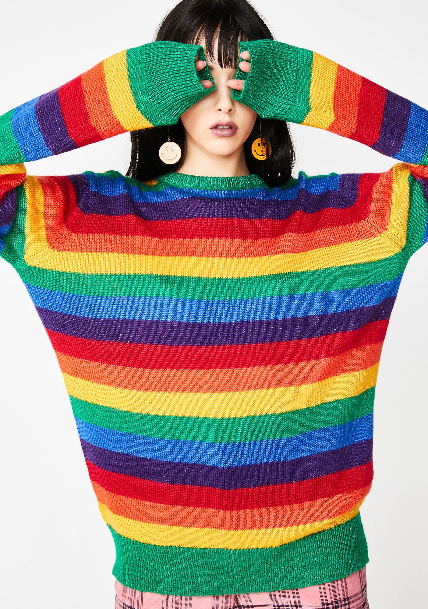 Lazy Oaf Glitter Rainbow Jumper