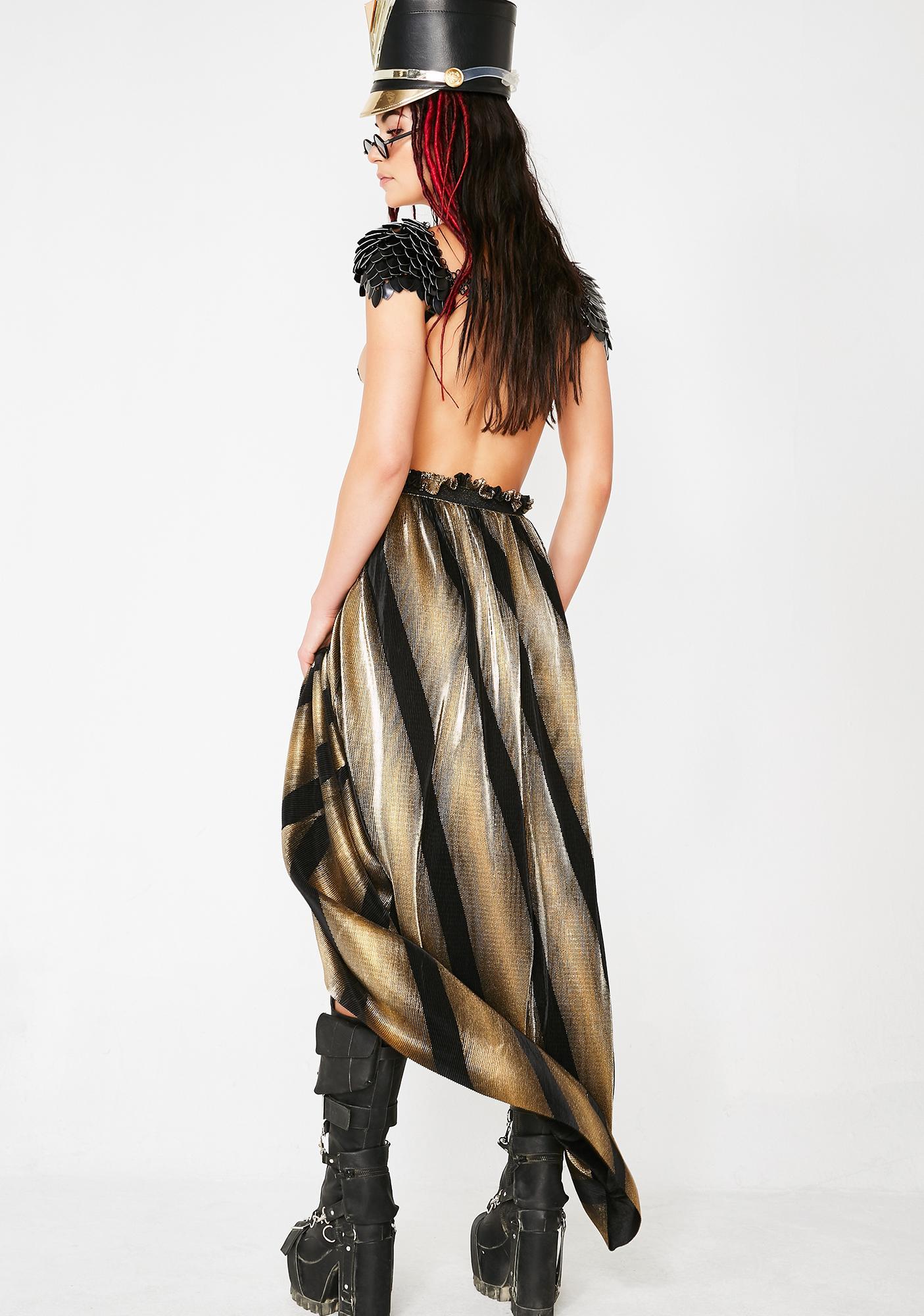 Golden Dimensional Barbarian Skirt