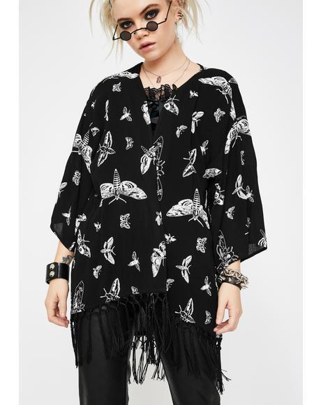 Death Moth Kimono