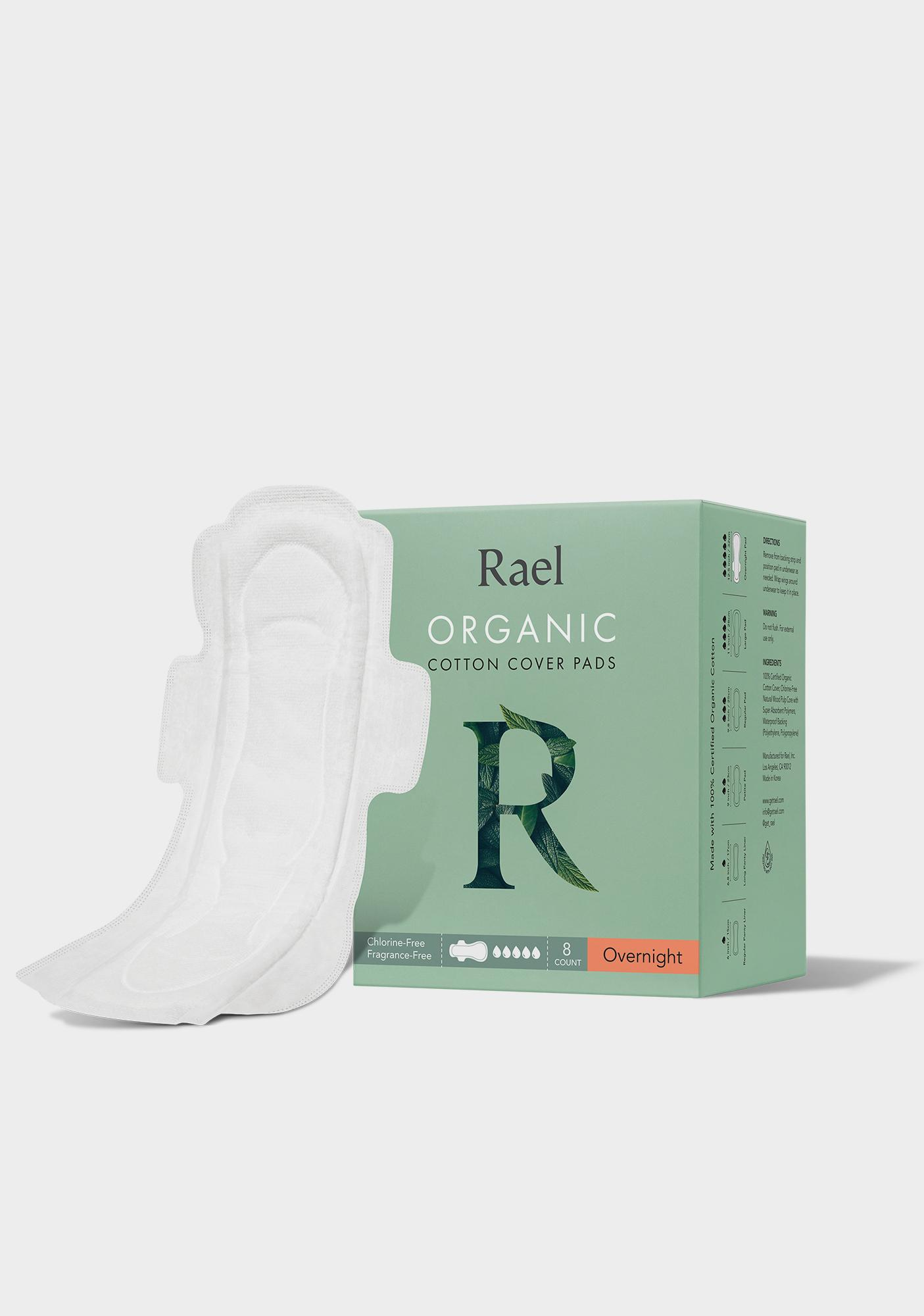 Rael Overnight Organic Cotton Pads