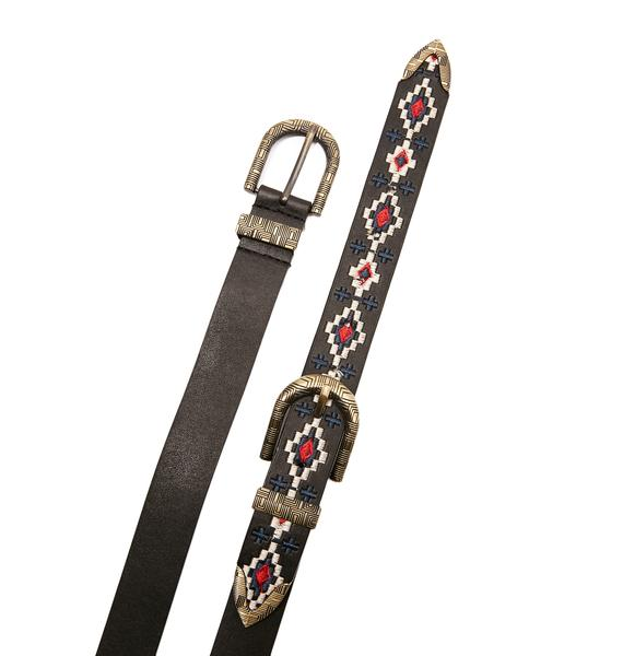 Rattler Embroidered Belt