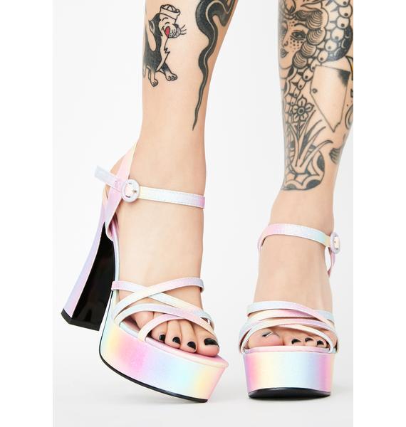 Sugar Thrillz Angel For Hire Platform Heels