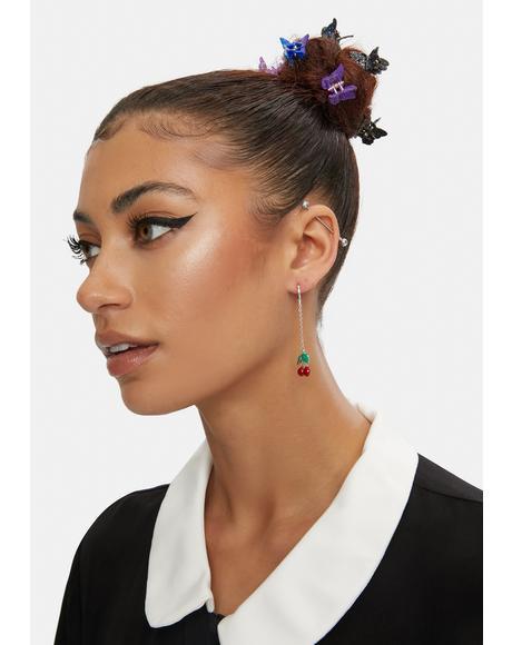 Delightfully Delicious Cherry Drop Earrings