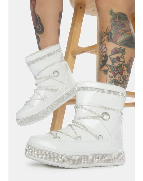 White Take Me Away Ankle Boots
