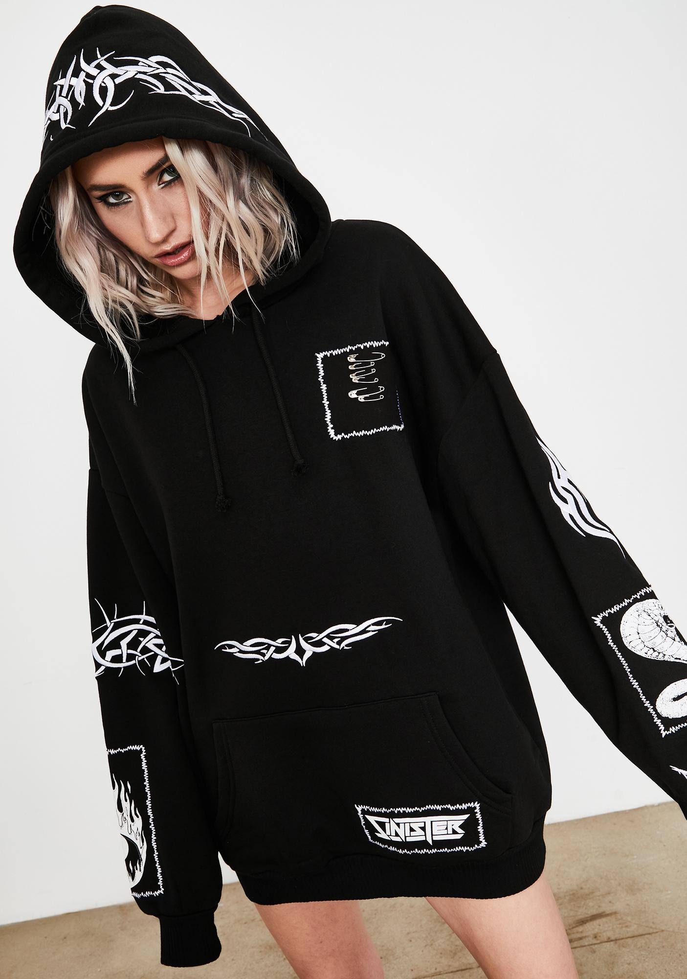 Current Mood Laid To Rest Graphic Hoodie