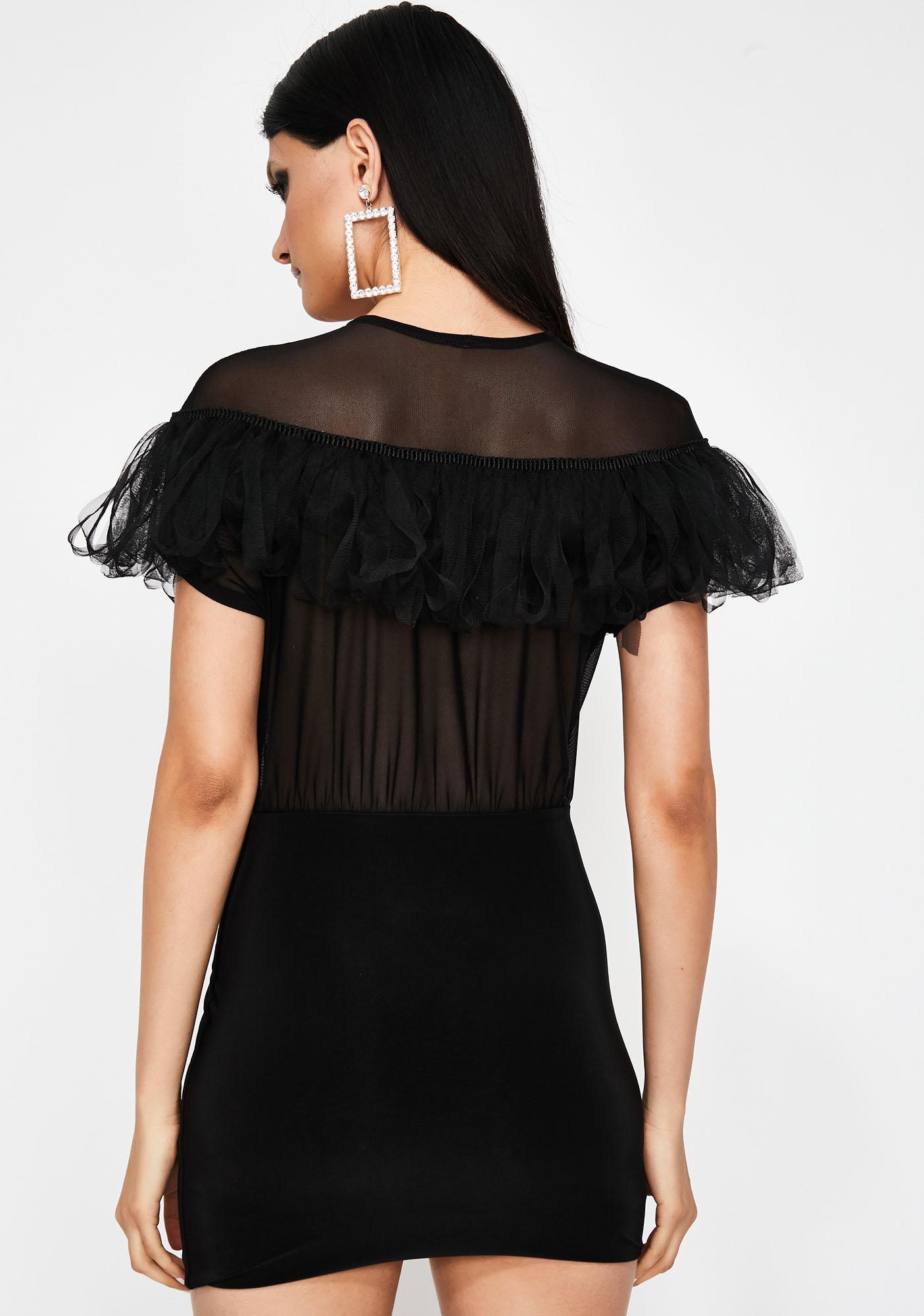 Noir Boss Up Fringe Dress