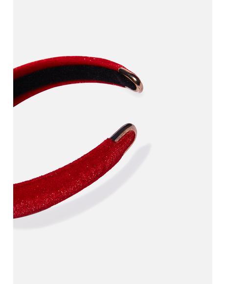Red Solid Headband