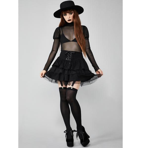 Widow Cavalier Courtship Mini Skirt