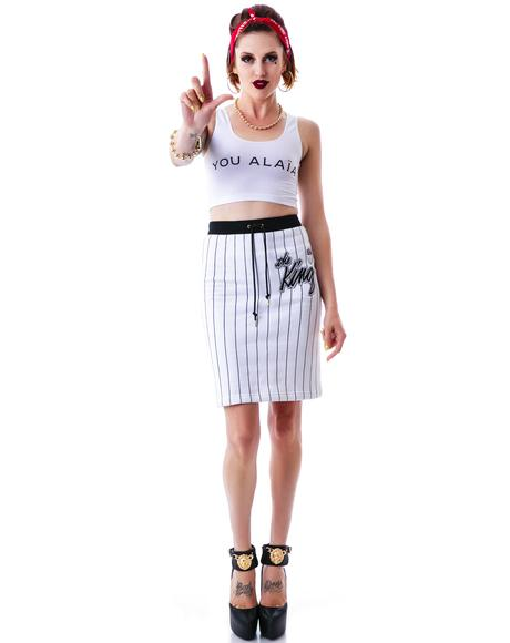 You Alaia Fitted Cropped Tank