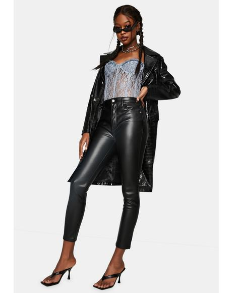 Onyx Aline Vegan Leather High Rise Pants