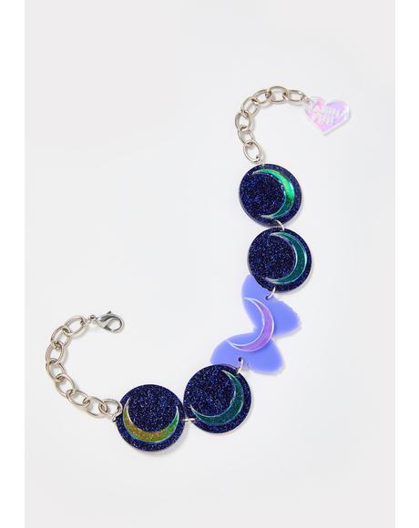 Butterfly Eclipse Glitter Choker
