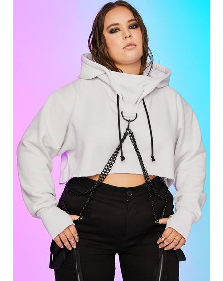 Pure So Chained N' Dangerous Crop Hoodie