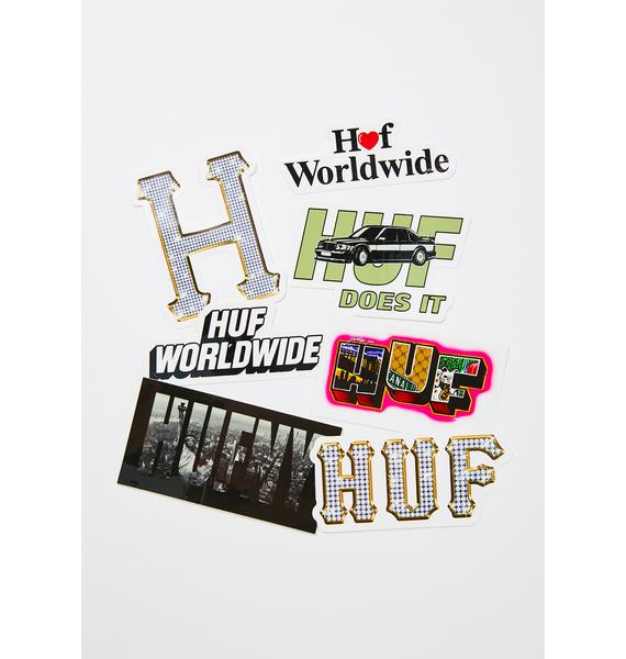 HUF Spring Time In NYC Sticker Pack