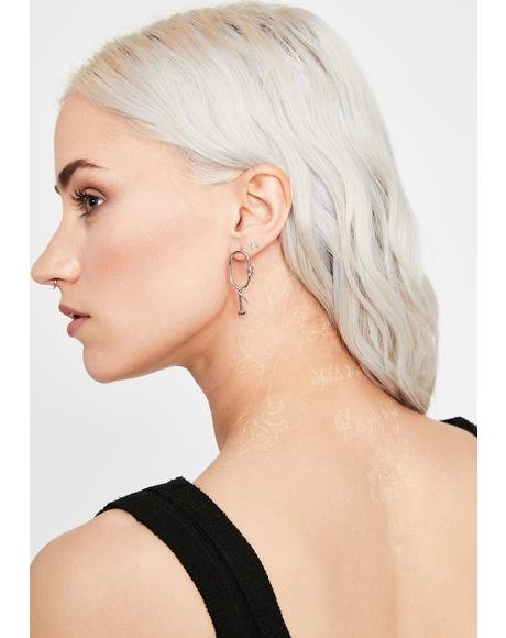 Do Not Enter Barbed Wire Earrings