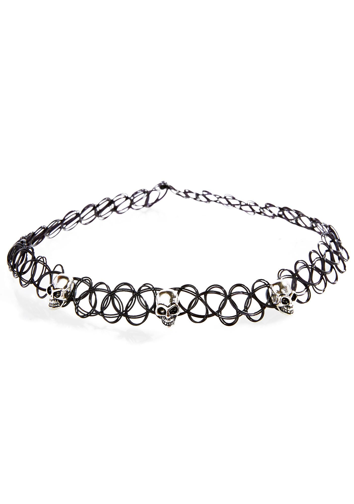 Skully Tattoo Choker