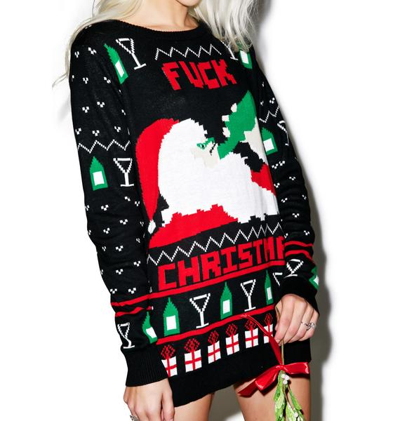 Fuck Christmas Get Drunk Sweater