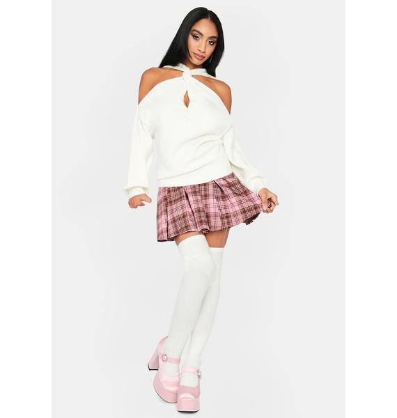 Angel En Vogue Twist Cutout Sweater