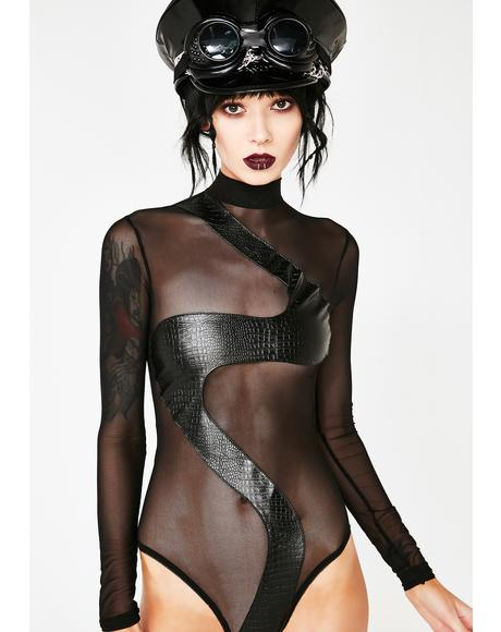 Sinful Sass Sheer Bodysuit
