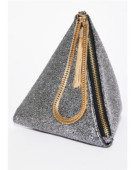 Sparkle N' Shine Pyramid Clutch