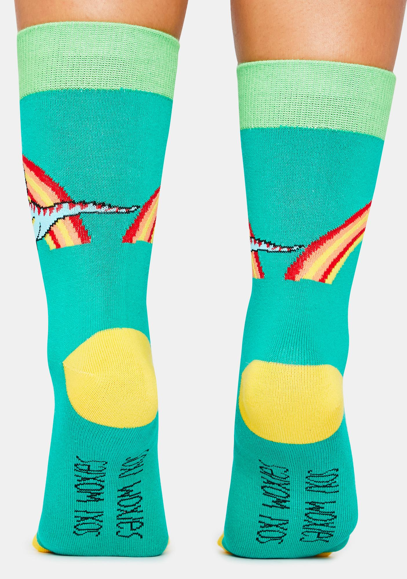 Neva Nude Pridosaurus Rex Socks