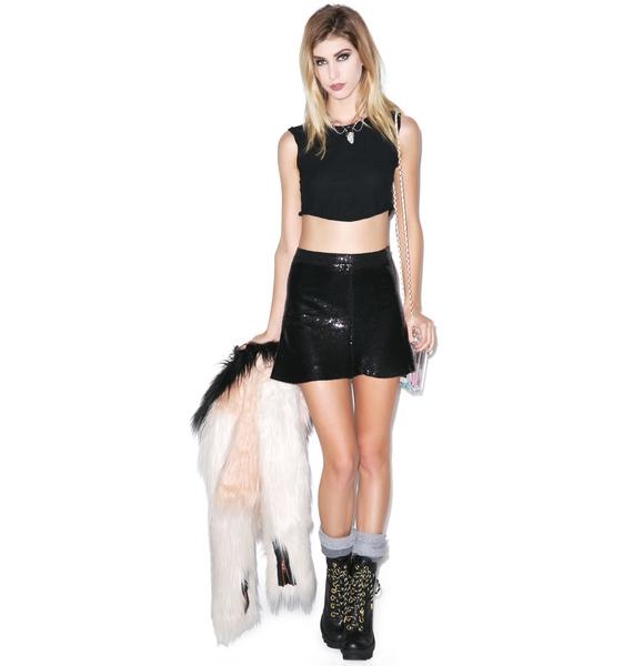 Wildfox Couture Lula Sequin Skirt
