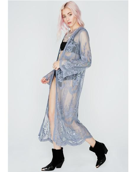 Natural Lover Sheer Kimono