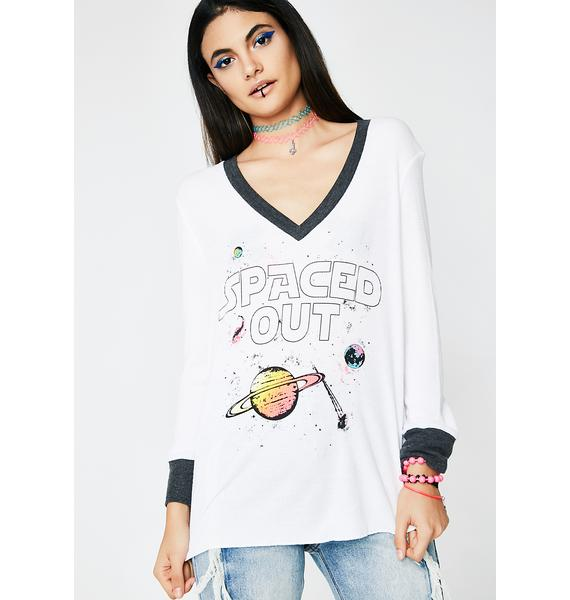 Wildfox Couture Spaced Out Leroy V Neck Tee