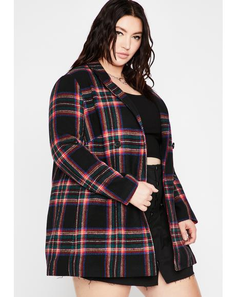 Mz Mutual Disrespect Plaid Coat