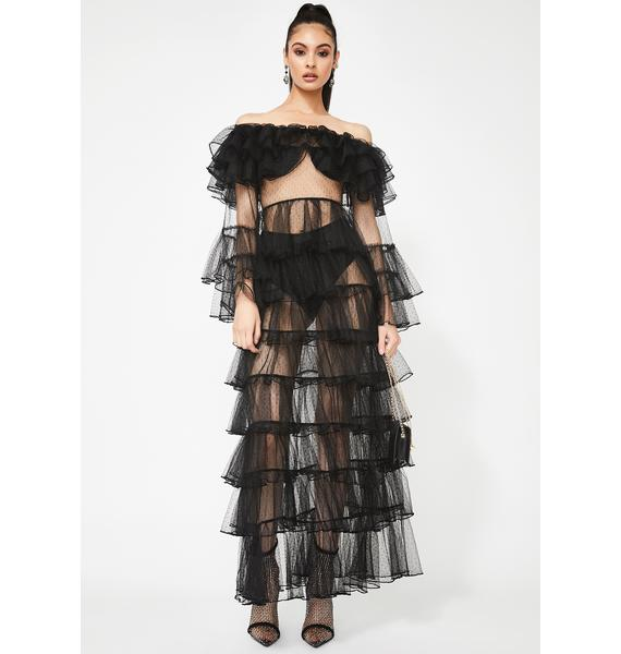 Kiki Riki Conceited Queen Tulle Maxi Dress