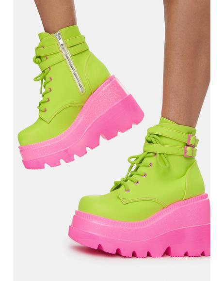 Watermelon Technopagan Boots