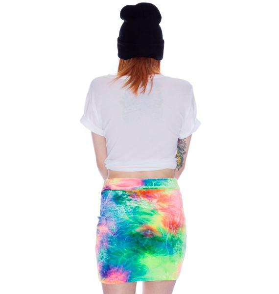 Our Prince of Peace Cosmic Velvet Bodycon Skirt