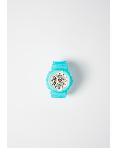 Baby G Sea Glass BA110SC-7A Turquoise Watch
