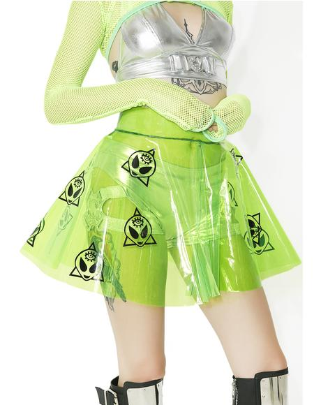 Alien Clear PVC Skirt