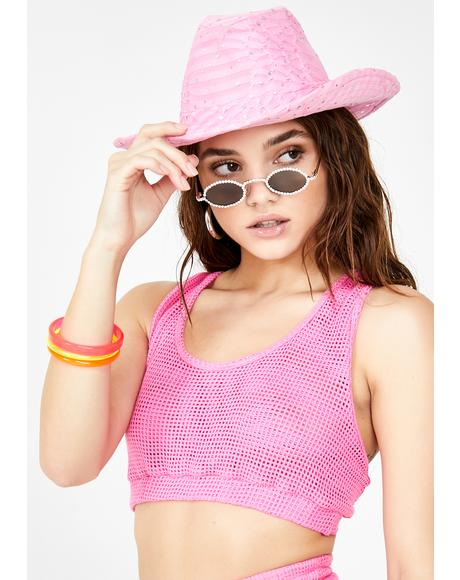 Rich Pink Sports Bra