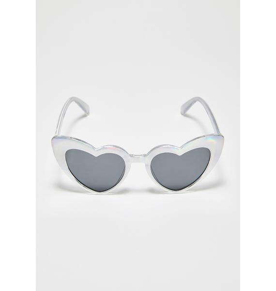 Cosmic Affair Heart Sunglasses